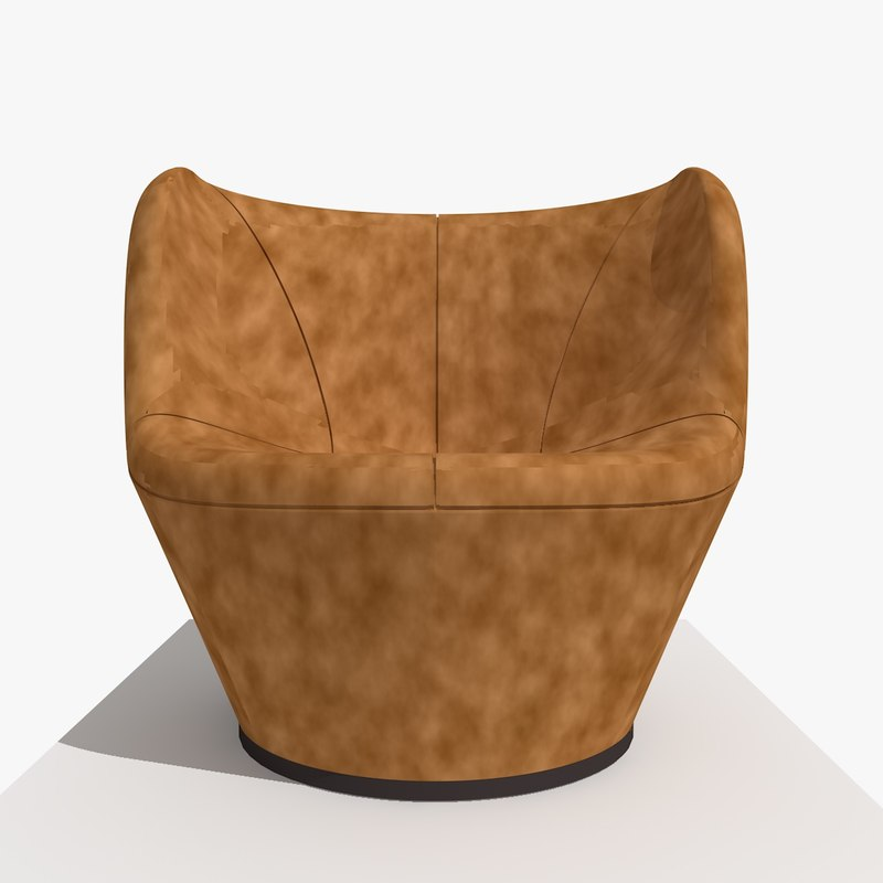 3d modern flower chair