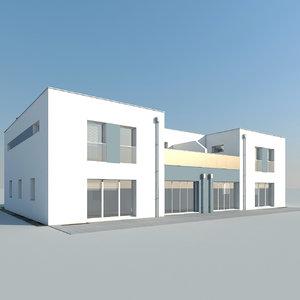 3d double house model