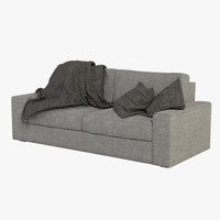 3ds max sofa blanket realistic