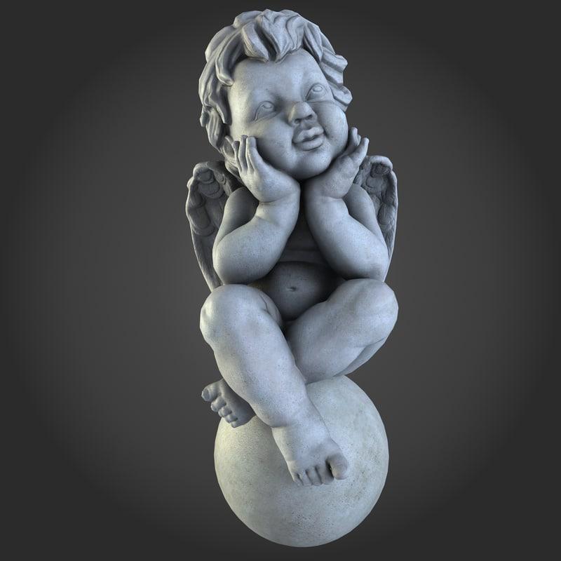 decorative cupid 3d model