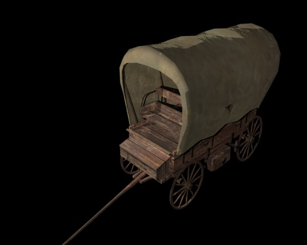 old wagon obj