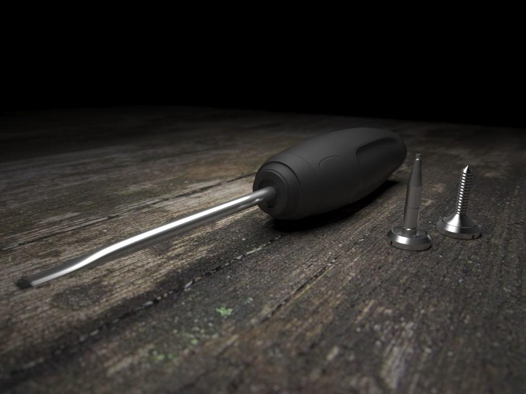 3d screwdriver bolts model