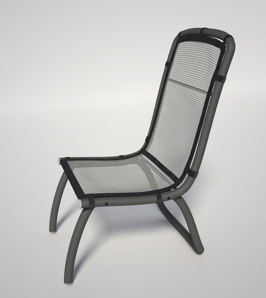 3ds max generic patio chair mesh
