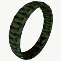 3d paracord bracelet model