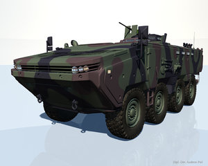 arma 8x8 apc vehicle 3d model