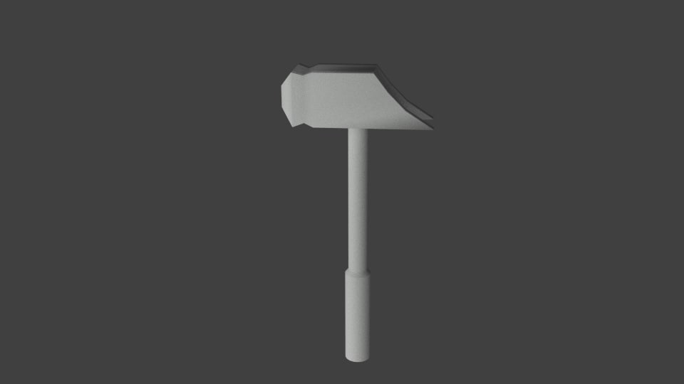 3d modeled hammer model