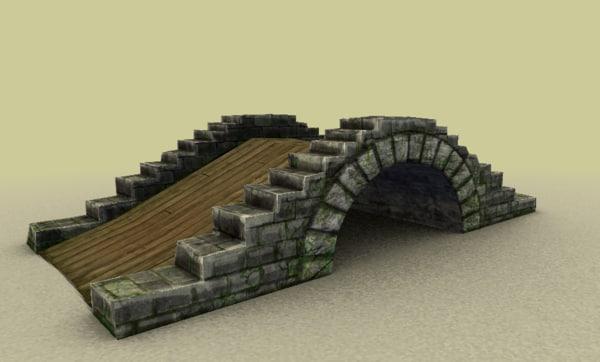 3d model of bridge low-poly