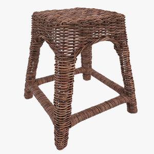 riviera maison reed stool 3d max
