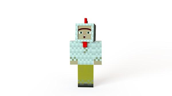 Minecraft Character Cinema 4D Models for Download | TurboSquid