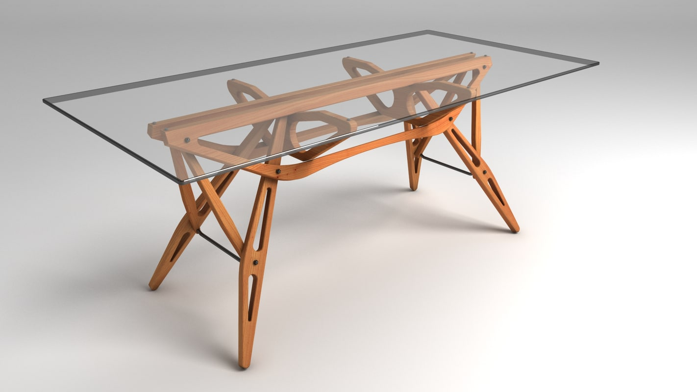 reale table 3d max