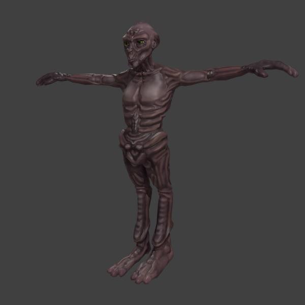alien creature 3d model