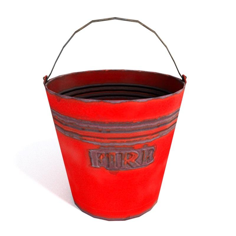 3d bucket ready model