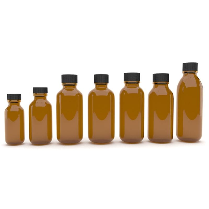 3d medical bottles 8