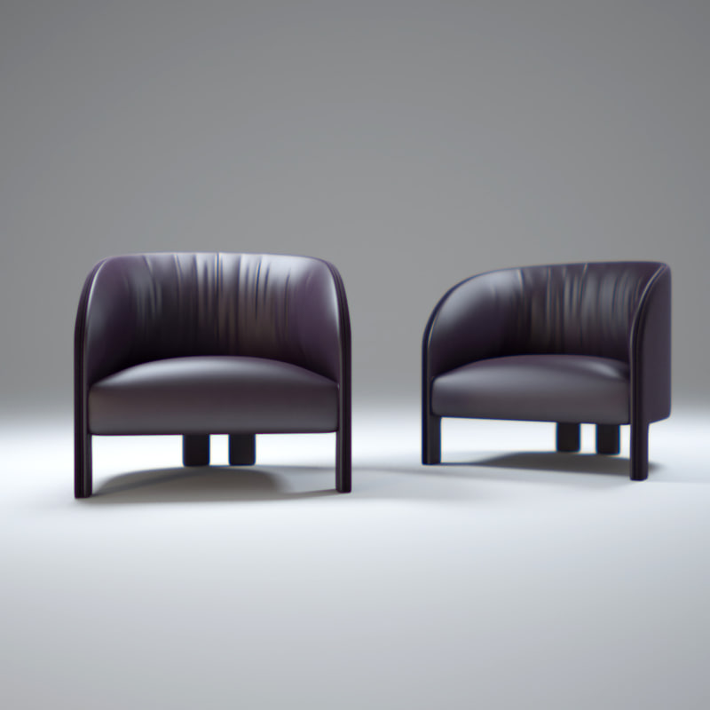 contemporary-leather-bridge-armchair 3d model