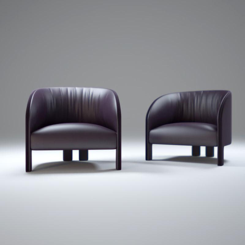 contemporary-leather-bridge-armchair 3d model