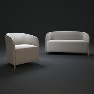 3d divano-moderno-brig model