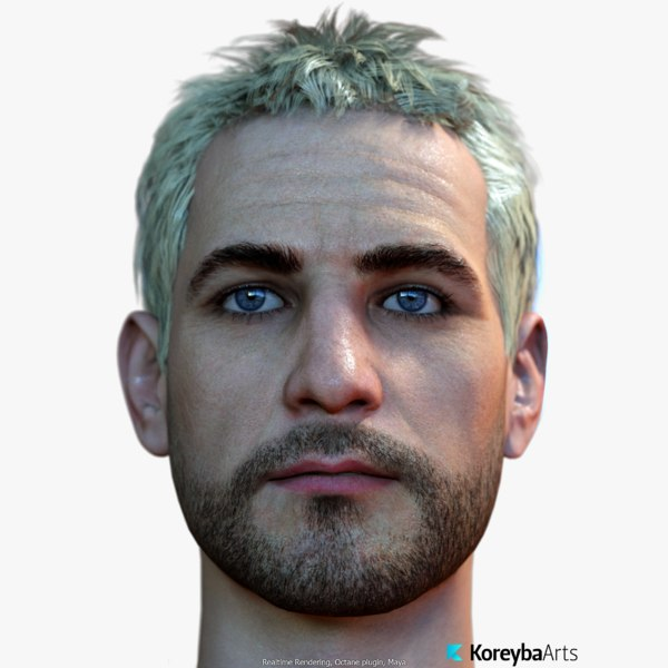 obj male head real-time 12