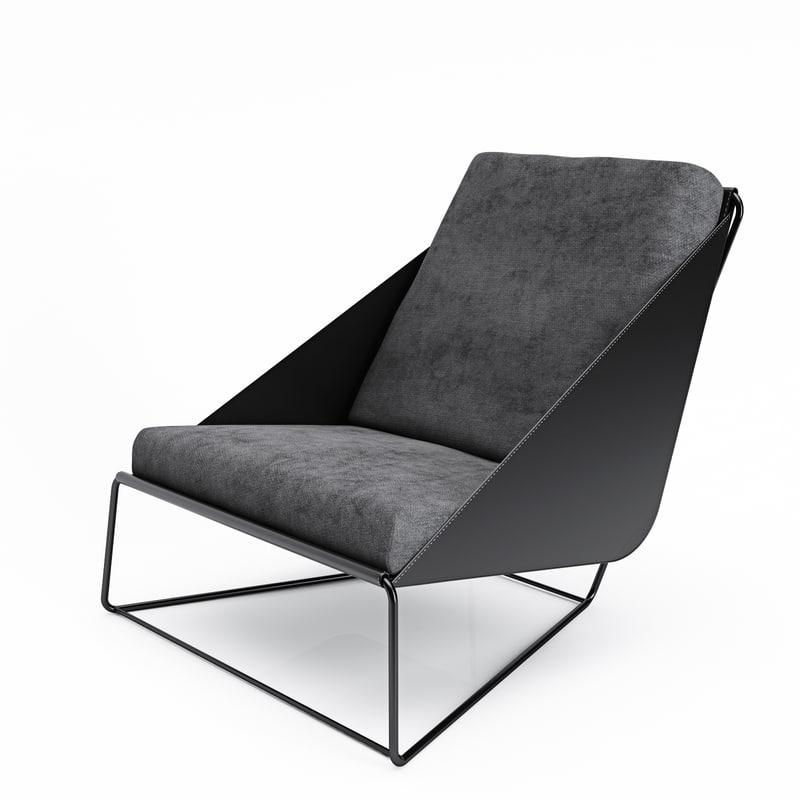 bonaldo alfie armchair 3d model