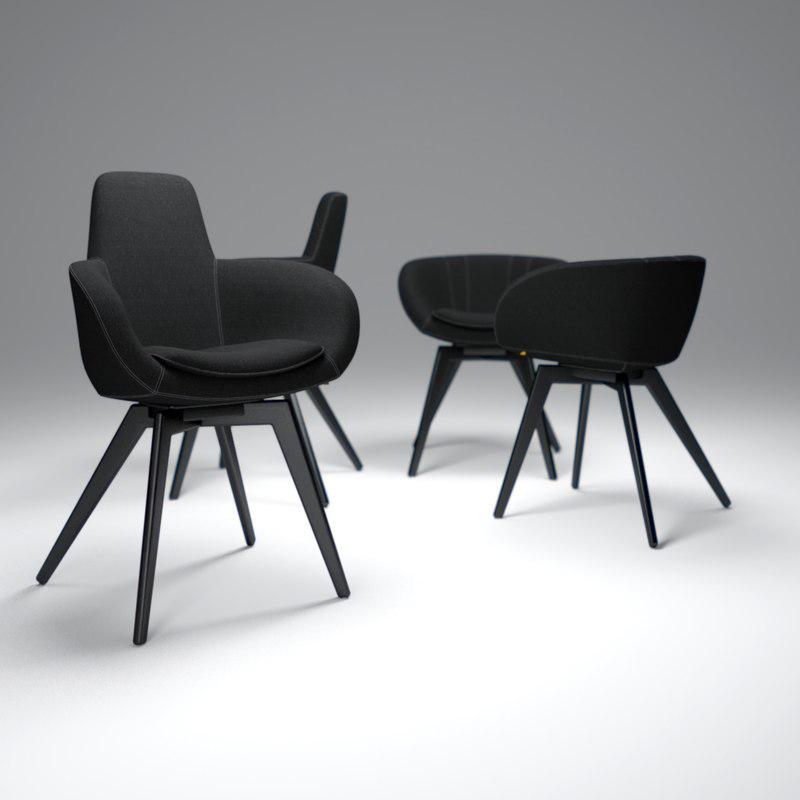 tom-dixon-scoop-chair 3d model