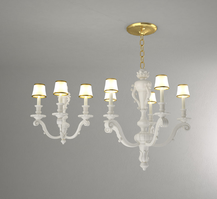3d chandelier wall sconce model