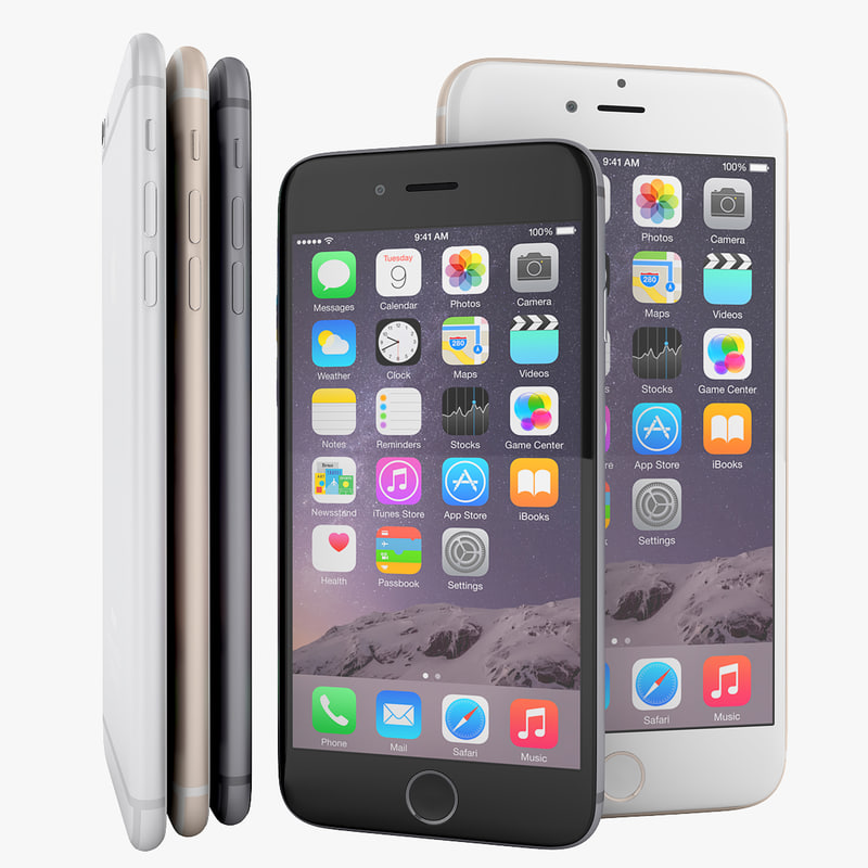 apple iphone 6 smartphone 3d max