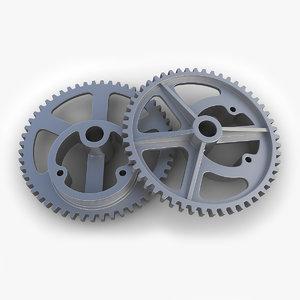 3d gear 30 parts industrial