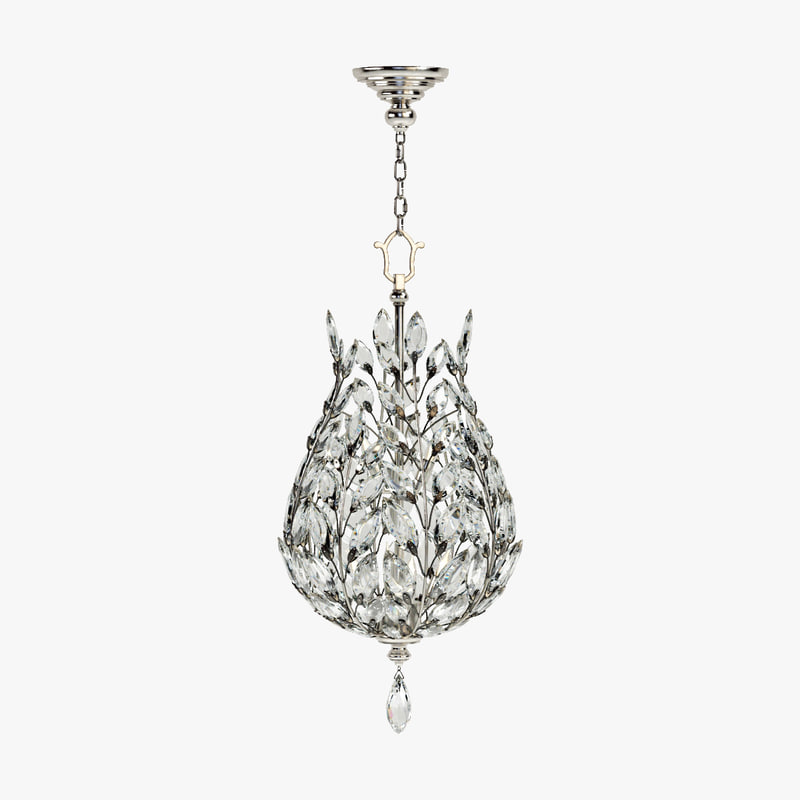 3d model fine lamps crystal laurel