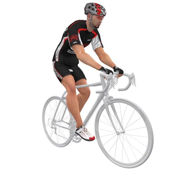 max rigged bicyclist bike man