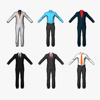 Men Suits Shirts Pants Real-time polygonal