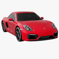 Porsche Cayman GTS 2015 Car Without Interior
