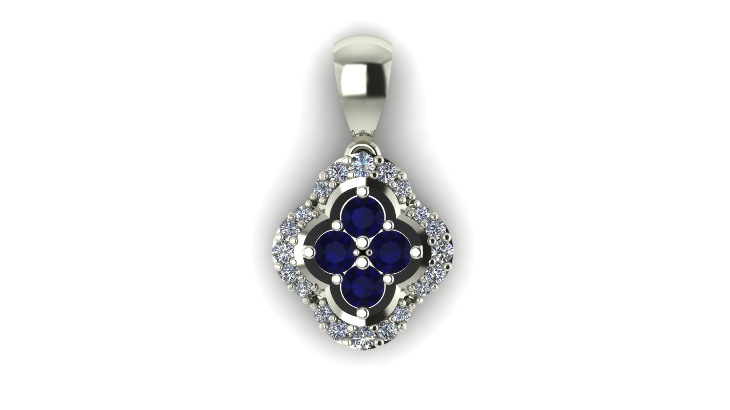 3d pendant diamond gemstone