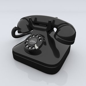 old telephone 3d obj