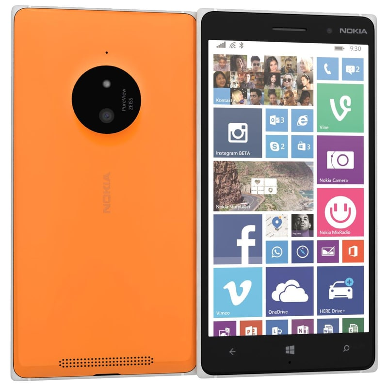 3ds max nokia lumia 830 orange