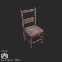 3d wooden chair