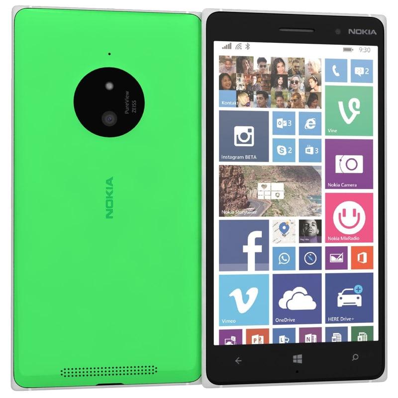 nokia lumia 830 green 3ds
