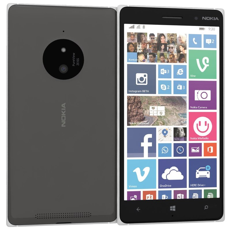 nokia lumia 830 black 3d model