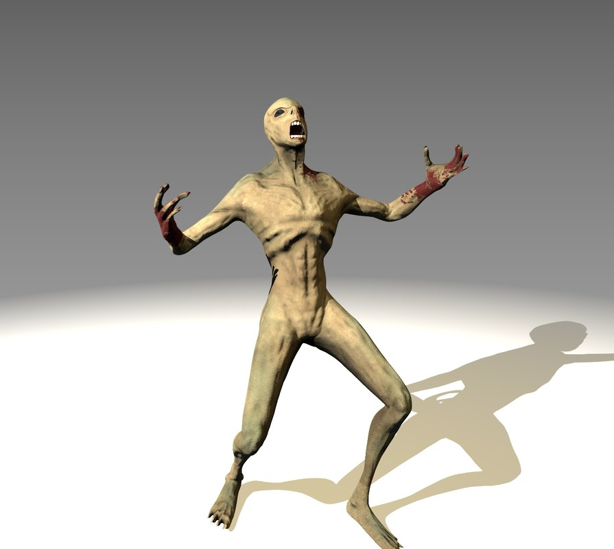 3d rigged creature model