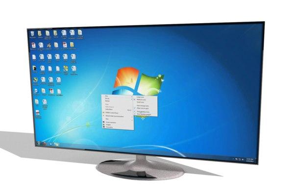 3d flatscreen monitor screen