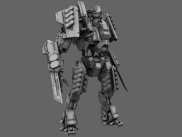robot soldier 3d max