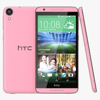 3d model htc desire 820 pink