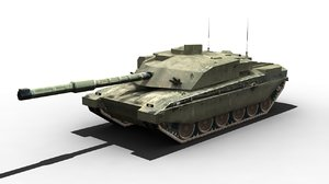 3d challenger 2 tank model