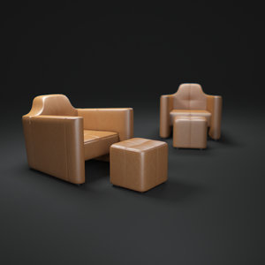 3ds max alhambra-armchair