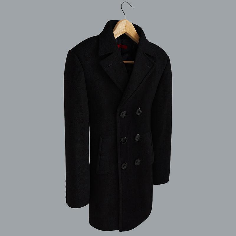 men s coat 3d max