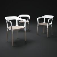 steelwood-chair 3d max