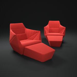 obj facett-armchair