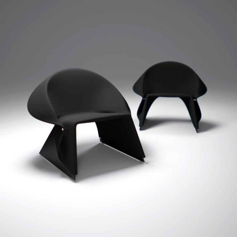 3d model of fredrik-farg-coat-easy-chair