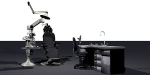 ophthalmologist equipment office 3d obj