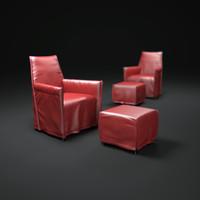 roderick-vos-ara-armchair 3d model