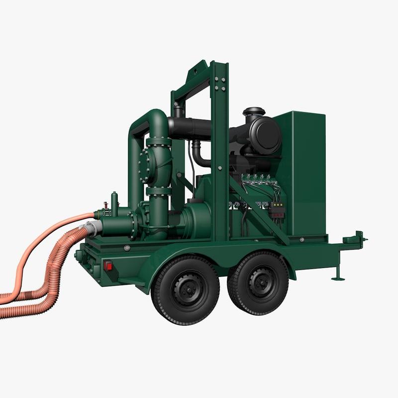 3d water transfer pump