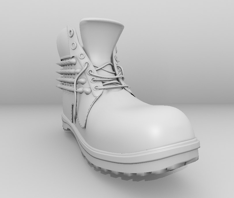 boot construction spiked 3d model